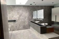 Marble bathroom cladding