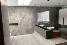 Marble bathroom cladding