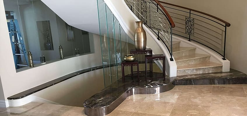 Natural Stone Staircase by Aurora Stone