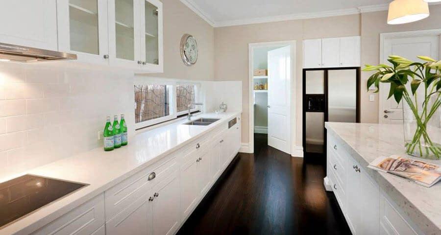 White Kitchen Benchtop by Aurora Stone