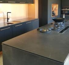 Porcelain benchtop is ideal for gas cooktop location