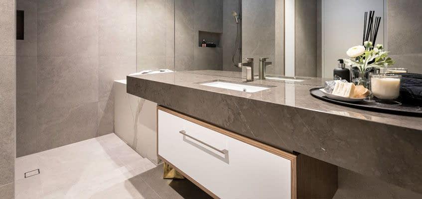 Bathroom Vanity Top by Aurora Stone